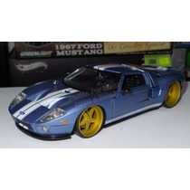1:24 Ford Gt 2005 Azul Mate Jada Toys Big Time