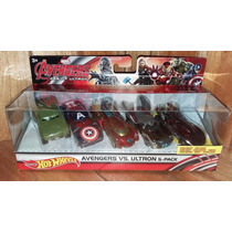 Hot Wheels Avengers Vs Ultron 5 Pack Deluxe & Auto Exclusivo
