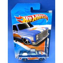 2011 Hot Wheels Hw Racing 11 83 Chevy Silverado Azul # 156