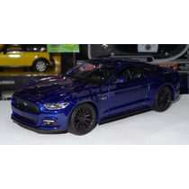 1:24 Ford Mustang Gt 2015 Azul Maisto Display Shelby