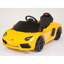 Carrito Eléctrico Lamborghini Aventador Amarillo Mp3 Luces