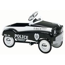 Carrito Pedales Policia Negro Retro Nuevo En Su Caja