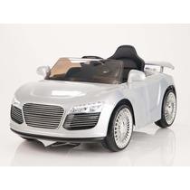 Carrito Nuevo Audi R8 Plata Control Remoto Sonido Mp3 Luces