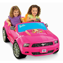 Barbie Mustang Carro Electrico Montable Carrito
