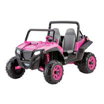 Carrito Electrico Peg Perego Jeep Rosa Niñas 2 Asientos Pila