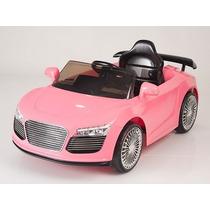 Carrito Nuevo Audi R8 Rosa Control Remoto Sonido Mp3 Luces