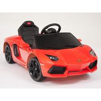 Increíble Carrito Eléctrico Lamborghini Aventador Naranja