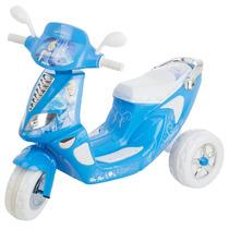 Scooter Montable Azul Electrico Para Niños Caracter Real