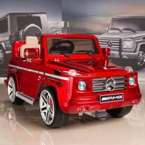 Carrito Electrico Mercedes Benz G55 Rojo Luces Sonido Mp3