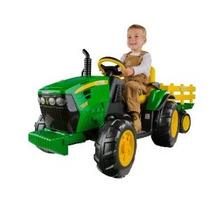 Fuerza Terrestre Peg Perego John Deere Tractor Con Remolque
