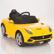 Carrito Electrico Ferrari F12 Nuevo Modelo 2015 Amarillo Mp3