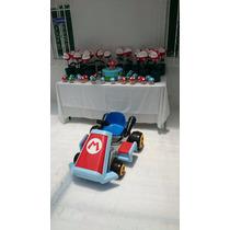 Carro Electrico Montable Mario Kart 7 +figura De Colección