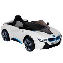 Bmw I8 Carro Eléctrico Infantil De 6 Volts Blanco