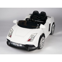 Carrito Electrico Lamborghini Racer X Blanco Baterias Luces