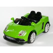 Carrito Electrico Lamborghini Racer X Verde Baterias Luces