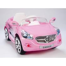 Carrito Electrico Mercedes Benz Rosa Niñas Radio Mp3 Luces