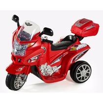 Moto Electrica Montable Policia Para Niños Con Entrada Mp3