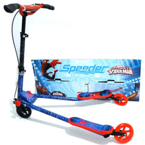 Patin Niño 3 Ruedas Scooter Spiderman Autoimpulsable