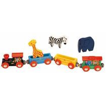 Animal Set De Trenes - Toys For Play De Madera De Tren Clás