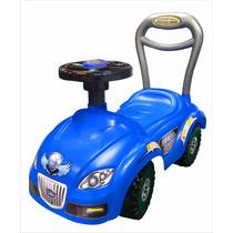 Carrito Montable Herbi Car Color Azul Sonido En Claxo