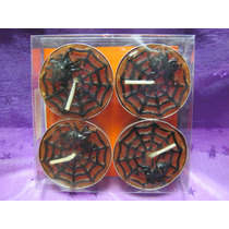 Velas Tealight Halloween Set De 4 Velas Decorativa 18 Modelo