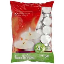 Luces De Té - Bolsius Prima Bolsa De 50, 4 Horas Burn Luz
