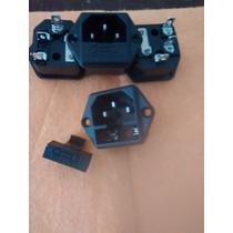 Ac Socket Con Porta Fusible- Nuevo