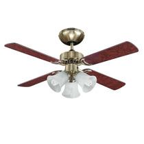Ventilador Abanico 42pul Laton Con Tres Luces De 4 Aspas Mf.
