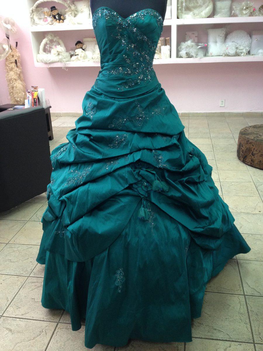 Vestido De Vx Aos En Color Verde Jade Mori Lee | Car ...