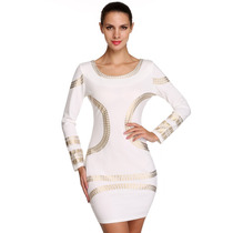 Vestido Bodycon Moda Japonesa Europea *cheque Disponibilidad