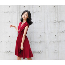 Vestido Rojo De Licra Para Mujer