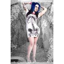 Vestido Estampado Esqueleto Kreepsville 666 Zombie Horror