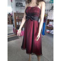 Vestido Rojo Con Negro De Fiesta