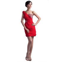 Baituya Vestido De Boda De Noche De Baile Corto Rojo