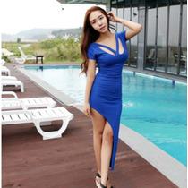 Vestido Largo Corto Elegante Estilo Japonés Formal 668