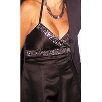 Precioso Vestido De Fiesta Negro Corto Americano