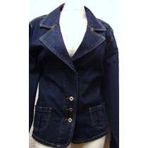 Saco Blazer Jacket Mezclilla Stretch Moda Hay Tallas Extras