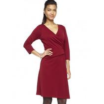 Vestido Wrap Color Rojo Y Cafe Talla Extra Marca The Limited