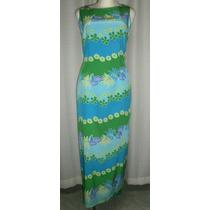 Vestido De Fiesta T.30, Tonos Azules, 100% Seda, Maggy Londo