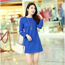 Vestido Corto Tipo Blison Casual Elegante Moda Fashion 1096