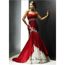 Hermosisimo Vestido Rojo Elegante Y Fino Por Eone Shopforyou