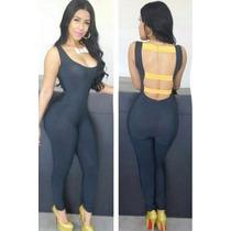 Moda Sexy Body Negro Tiras Amarillas En Espalda Sin Mangas