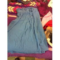 Vestido Azul De Fiesta Talla 8 Americana Vv4