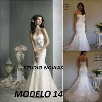 Vestido De Novia Nuevo Barato Bonito Elegante Playa Mod 14