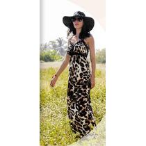 Vestido Largo De Dama Animal Print