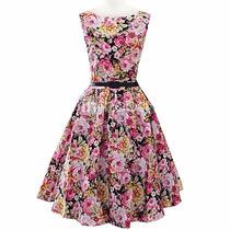 Vestido Vintage Pin Up Flores