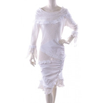 Vestido Blanco Tejido Zone Bleue