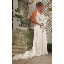 Vestido D Novia Boda Seda Talla 26 De $19,000 Oferta $9,000
