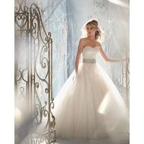 Vestido De Novia Nuevo Blanco Bordado, Envio Gratis