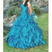 Vestido Quince Años Azul